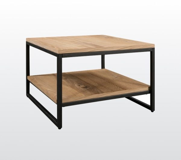 6444 thickbox default Evora Industrial Square Coffee Table With Shelf