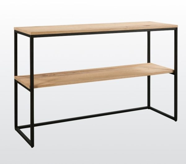 6445 thickbox default Evora Industrial Console Table With Shelf