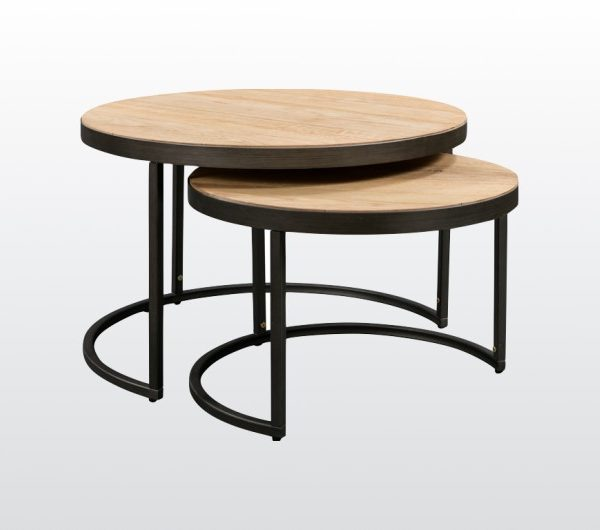 6446 thickbox default Evora Industrial Round Nest Of Tables