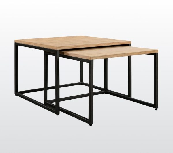 6447 thickbox default Evora Industrial Nest Of 2 Tables