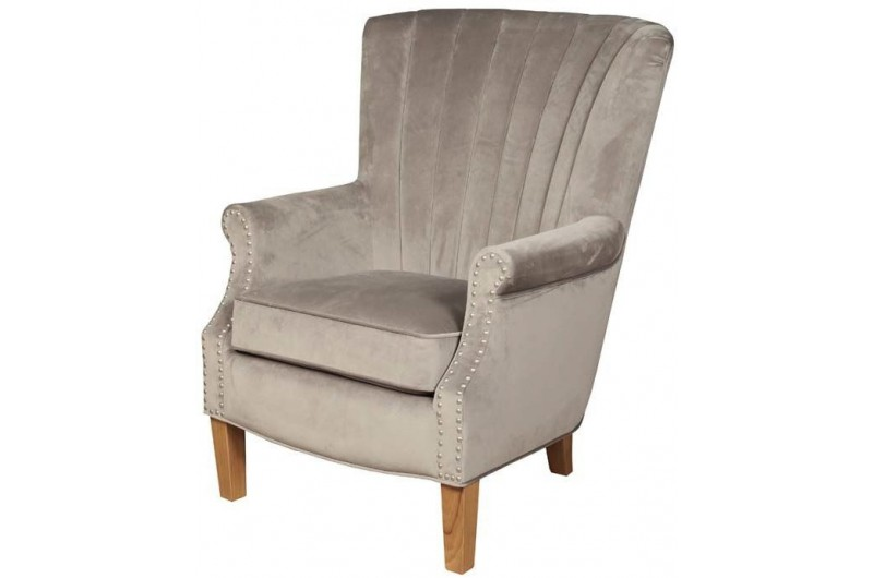 6462 thickbox default Bexley Light Grey Velvet Armchair