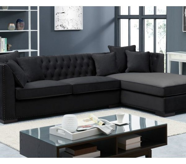 Black Chesterfield Corner Suite-Right