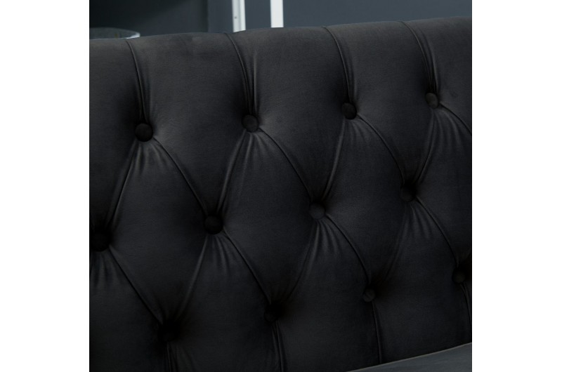 6509 thickbox default Black Chesterfield Corner Suite Right