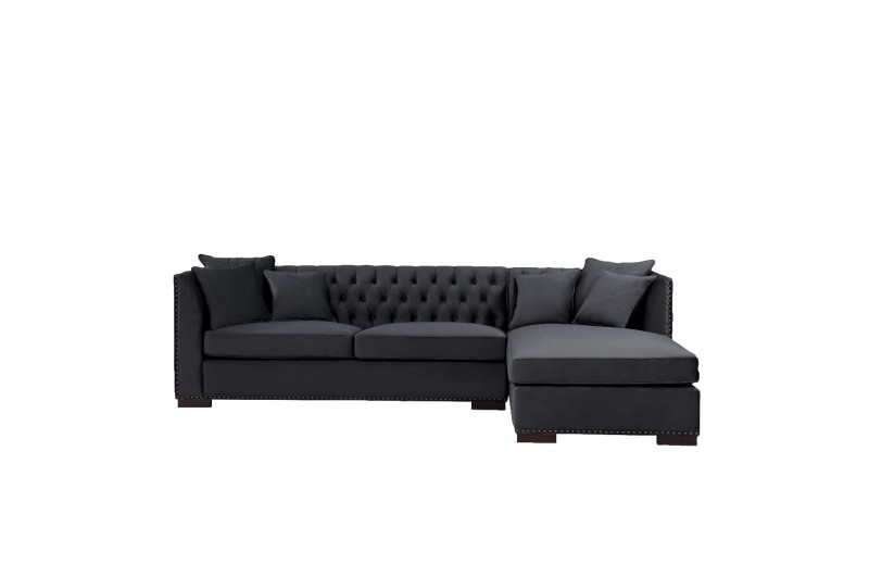 6510 thickbox default Black Chesterfield Corner Suite Right