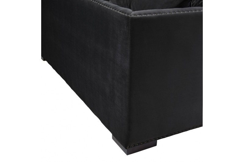 6513 thickbox default Black Chesterfield Corner Suite Right