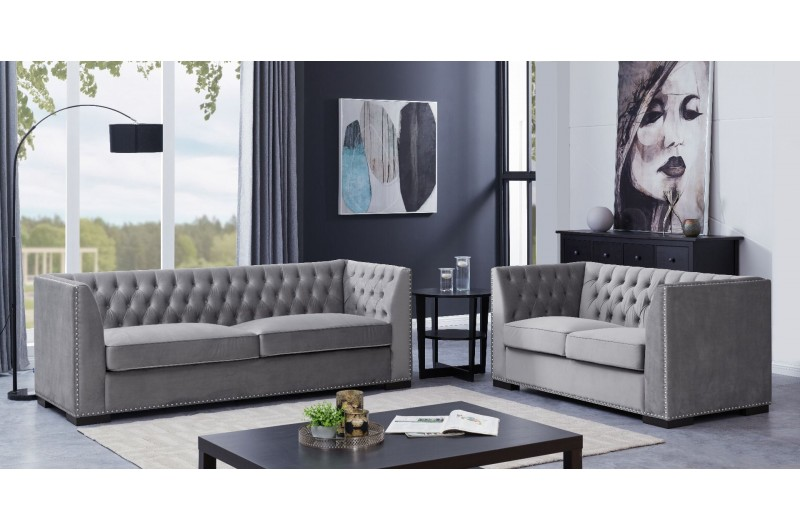 Chester 3 + 2 Seater Suite Grey