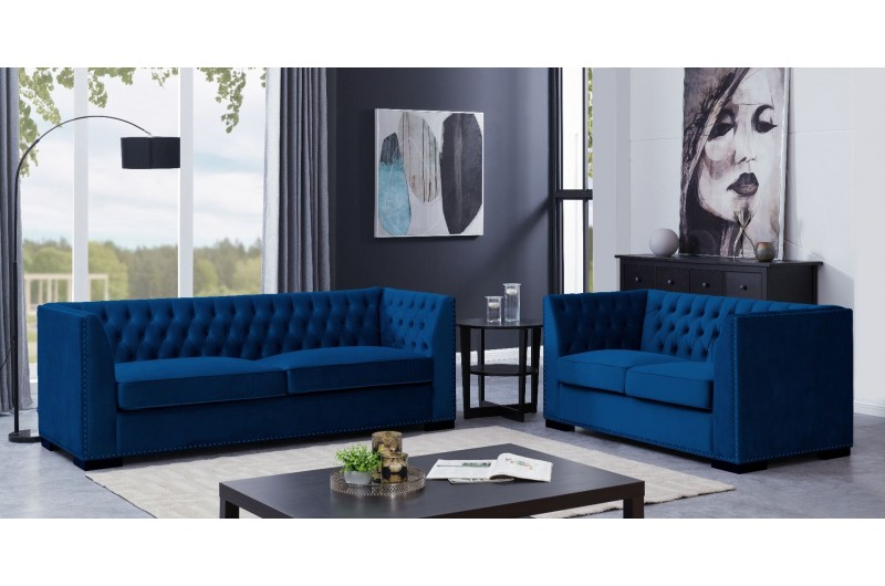 Chester 3 + 2 Seater Royal Blue