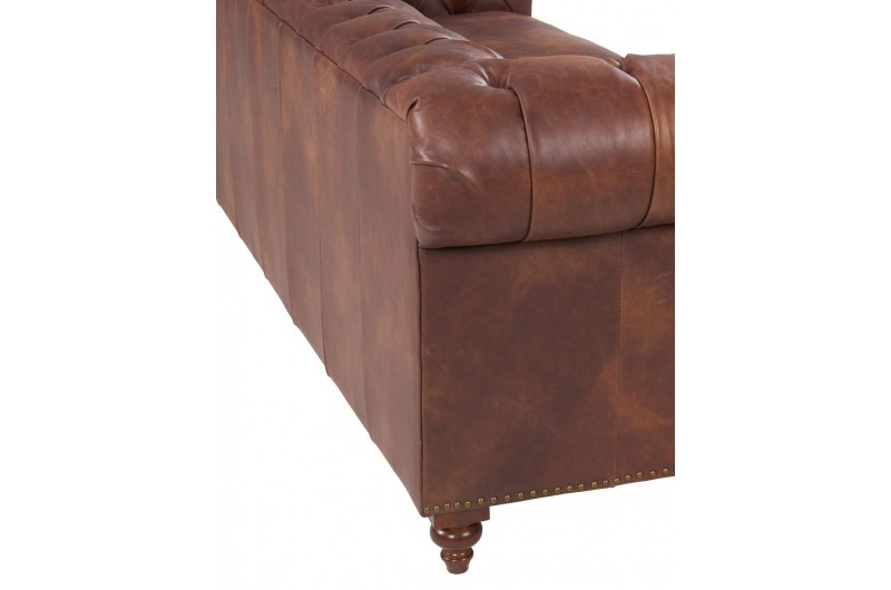 6589 thickbox default Chesterfield Suite Brown Leather