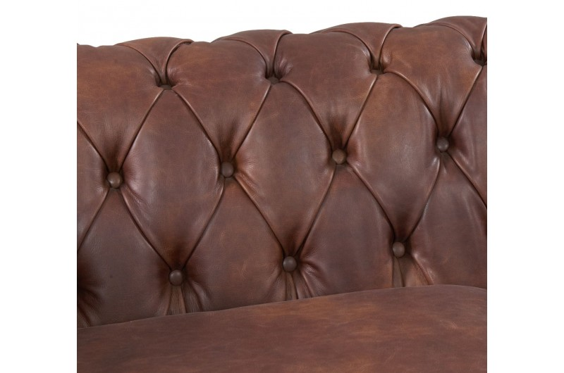 6590 thickbox default Chesterfield Suite Brown Leather