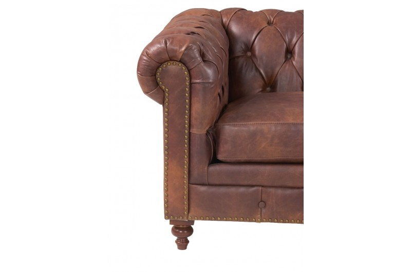 6591 thickbox default Chesterfield Suite Brown Leather