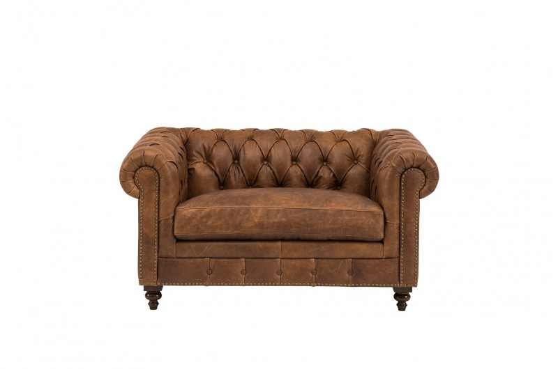 6602 thickbox default Chesterfield Snuggle Chair Brown Leather
