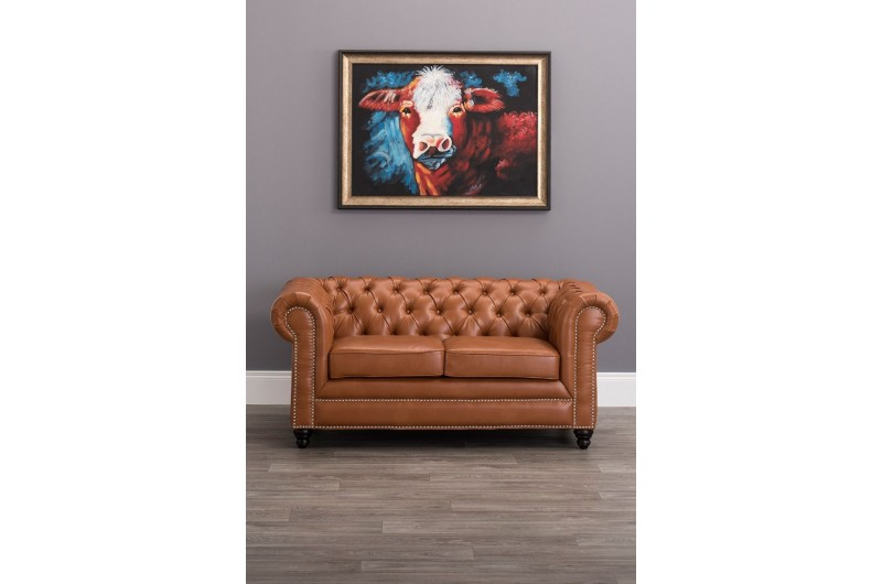 6618 thickbox default Faux Leather Chesterfield 2 Seater Tan