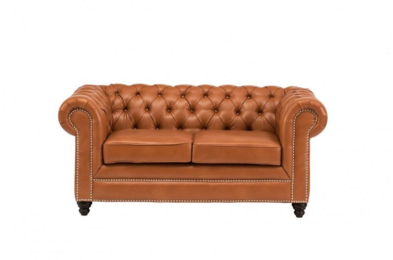 6620 thickbox default Faux Leather Chesterfield 2 Seater Tan