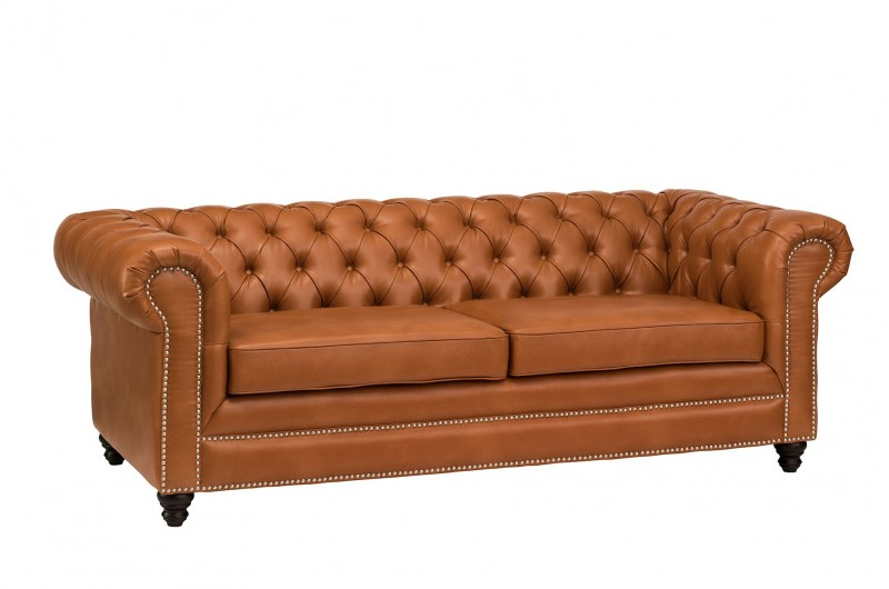 6621 thickbox default Faux Leather Chesterfield 3 Seater Tan