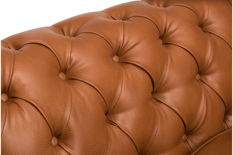 6623 thickbox default Faux Leather Chesterfield Suite Tan