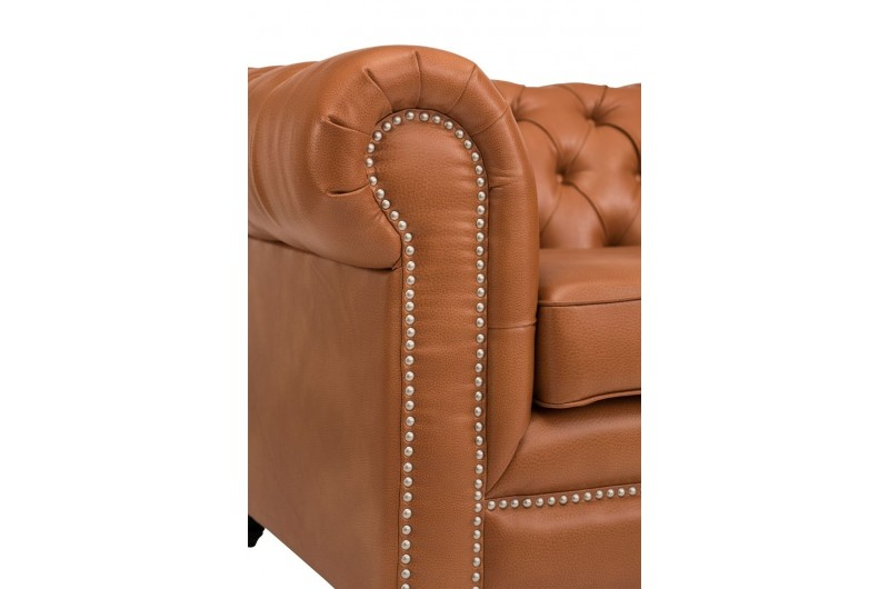 6624 thickbox default Faux Leather Chesterfield Suite Tan