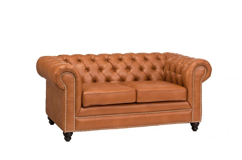 6626 thickbox default Faux Leather Chesterfield 2 Seater Tan