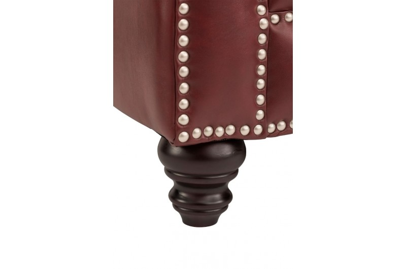 6628 thickbox default Faux Leather Chesterfield Suite Ox Blood Red