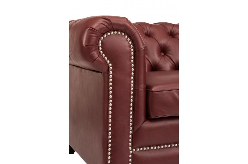 6629 thickbox default Faux Leather Chesterfield Suite Ox Blood Red