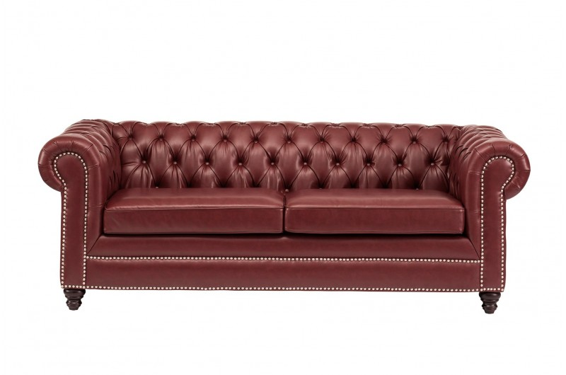 6634 thickbox default Faux Leather Chesterfield 3 Seater Ox Blood Red