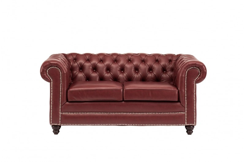 6635 thickbox default Faux Leather Chesterfield 2 Seater Ox Blood Red