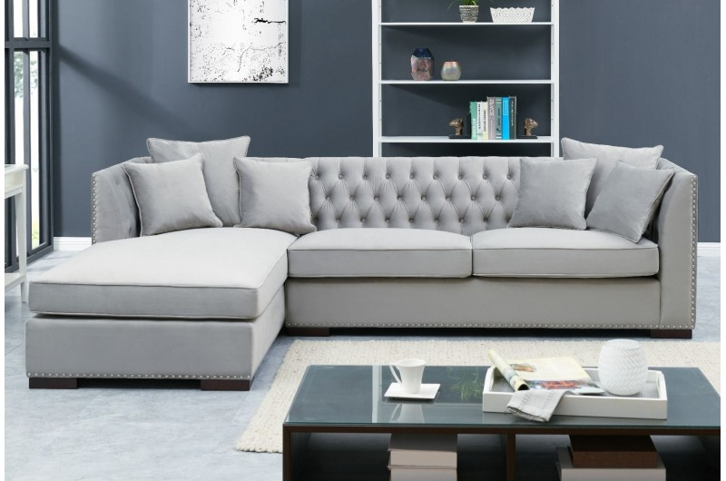 Grey Chesterfield Corner Suite-Left
