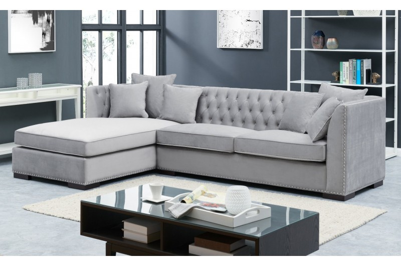 6644 thickbox default Grey Chesterfield Corner Suite Left