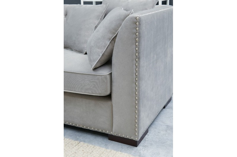 6645 thickbox default Grey Chesterfield Corner Suite Left