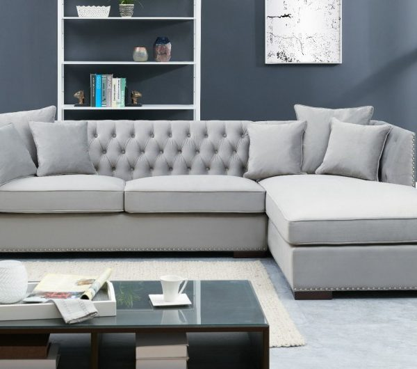 Grey Chesterfield Corner Suite-Right